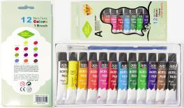 ACRYLIC PAINTING SET/12 MIX COLOR 0515002
