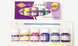 GLASS PAINT SET/6 MIX COLOR 0515004