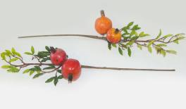 Small branches of pomegranate fruit 24pcs/box 15x50cm 0516061