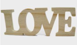ΞΥΛΙΝΟ LOVE 31x11cm ΦΥΣΙΚΟ 0519306