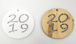 ΞΥΛΙΝΟ ΣΤΡΟΓΓΥΛΟ 2018 50% ΕΚΠΤΩΣΗ 8cm 0519483