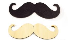 Wooden mustache big 18cm 0519505