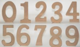 NUMBERS MDF 11cm thick.18mm 0519553
