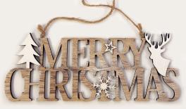 ΞΥΛΙΝΟ MERRY CHRISTMAS 11x30cm 0531015