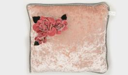 17A14550 40x40x40CM OLD PINK CUSHION FABRIC FOR DECORATION 0621127