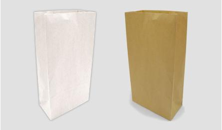 21*12*7cm natural brown paper bag without handle 0402073