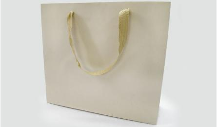 THICK PAPER BAG 37.5x30cm BEIGE 200G WITH BARCAROLLE 0402082