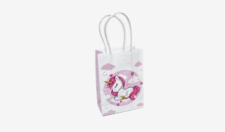 318#-B Unicorn print paper bag 11*15cm 0402104