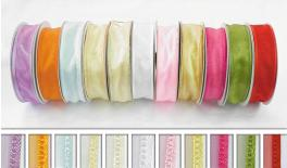 RIBBON ORGANZA WITH SATEEN 3.8cm 50m 0501016