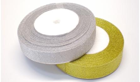 Ribbon gold and silver 2.5cm 25Y 0501028