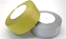 Ribbon gold and silver 4cm 25Y 0501029