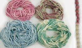 0.8cm pom pom ball string two color mix 25m 0501032