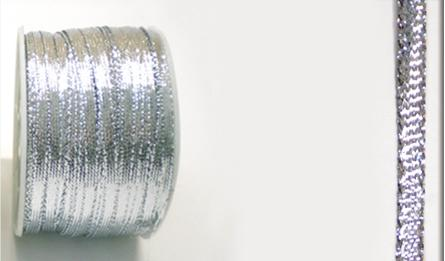 Ribbon gold and silver 3.5mm 100Y 0501034