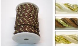 Three-ply string big 0.5cm 20Y two-color gold 05010362