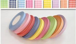 Ribbon plaid thin 1.2cm 50Y 0501051