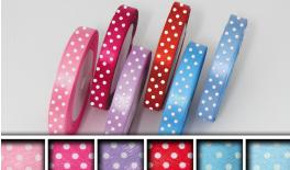 RIBBON SATEN DOTS 1.5cm 25y 0501083