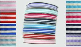 grosgrain RIBBON WITH STRIPES 1cm 25Y 0501100