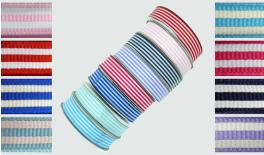 grosgrain RIBBON WITH STRIPES 2.5cm 25Y 0501102