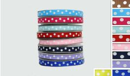 grosgrain RIBBON DOTS 1cm 25Y 0501103