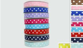 grosgrain RIBBON DOTS 1.5cm 25Y 0501104