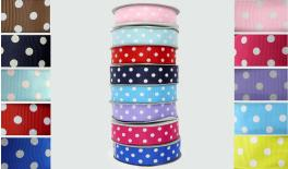 grosgrain RIBBON DOTS 2.5cm 25Y 0501105
