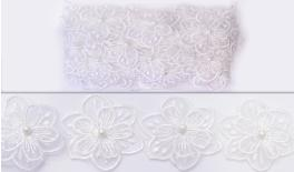 FLOWER LACE DOUBLE 57MM 10Y 0501221