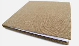 FLAX cloth cover notebook with thick sponge 30pages 27x26cm 0503090
