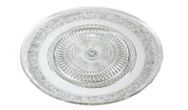 PM-10 inch Glass cake plate 0503214