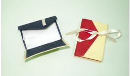 Box paper with ribbon for Cross 9X6X2cm 0506121
