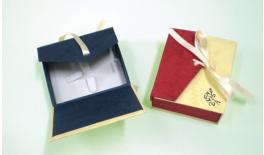 Box paper with ribbon 9x7.5x3.5cm 0506122
