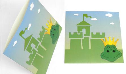 ENVELOPE FROG FOR INVITATION 22x21.5cm 05061292