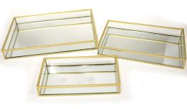 BB200-126057/58/59 metal tray-set of 3 20*10*3cm 24*14*3cm 29*18*3cm 0506187