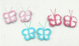 BUTTERFLY KNITTED 2.5x3cm 0508029
