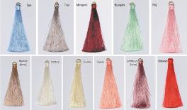 6.5cm rayon tassel+KC gold ring 100pcs/bag 0511042