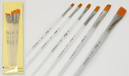 6pcs paintbrush set with nylon hair size:1,3,5,7,9,11 0515082