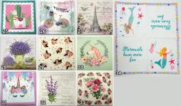 Color napkin 20pcs/bag 2layer/pcs 33*33cm 0515086