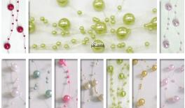 PEARL SMALL SIZE 8MM BALL 110CM STRING 40PCS/BAG 0517102