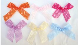 Bow organza with dots 10cm 0517116