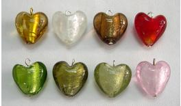 Heart glass necklace 2.1x2.1cm 0517220