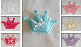 FABRIC CROWN DOUBLE A-177 8.5x6cm  0517344