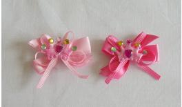 FABRIC CROWN BOW STONES D-76 4.5x2.5cm 0517346