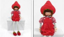 BIG STRAWBERRY GIRL SITTING 90cm 0517472