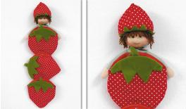 STRAWBERRY WALL 3 POUCH 75cm 0517475
