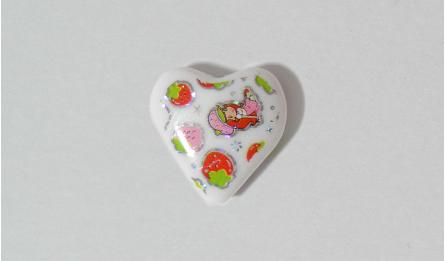 HEART PRINT STRAWBERRY 2.5x2.5cm 05175552