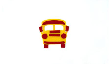 FLAT SMALL SCHOOL BUS 6.5x6.5cm 0517661