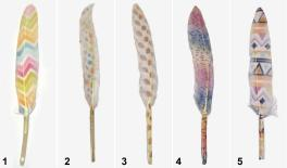 13-15CM knife feather 0517898