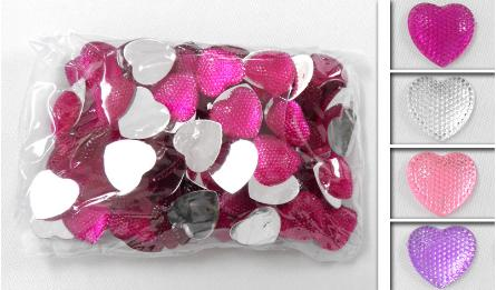 BIG ACRYLIC HEART 2cm 100pcs 0519041