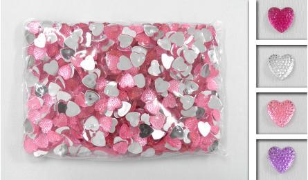 LITTLE ACRYLIC HEART 14mm 500pcs 0519042