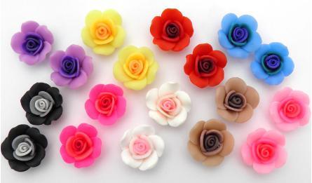 FIMO FLOWERS 2.5x1cm 50pcs 0519053