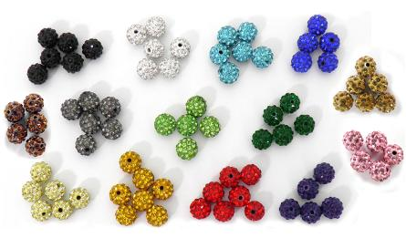 BEAD 10mm WITH STONES 0519088